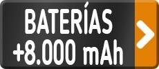 Baterías más 8.000 mAh