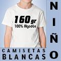 CAMISETA NIÑOS BLANCAS